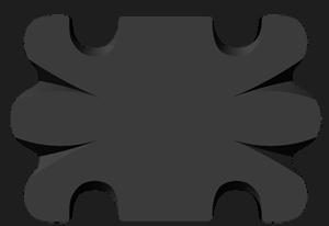 Butterfly Pattern Button