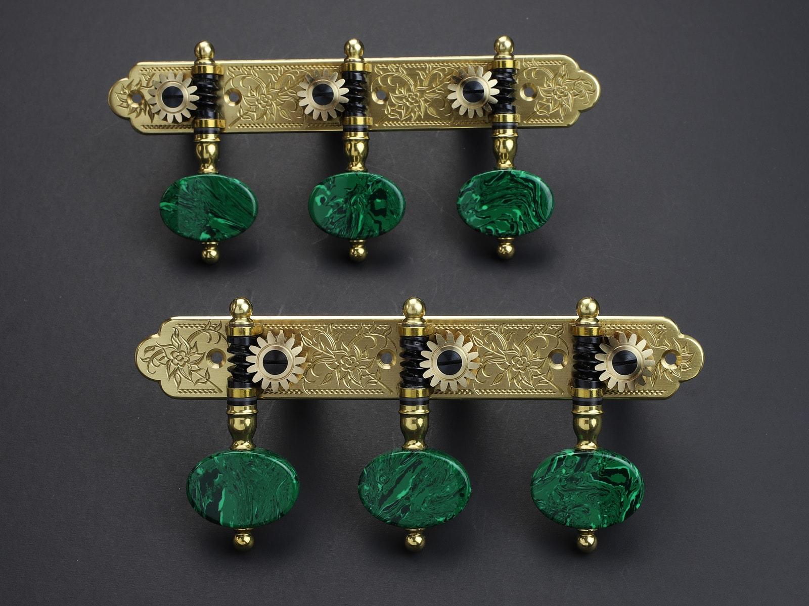 Rodgers Tuners L675 117mm Brass Malachite