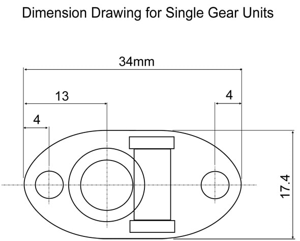 Single plate dimension drawing