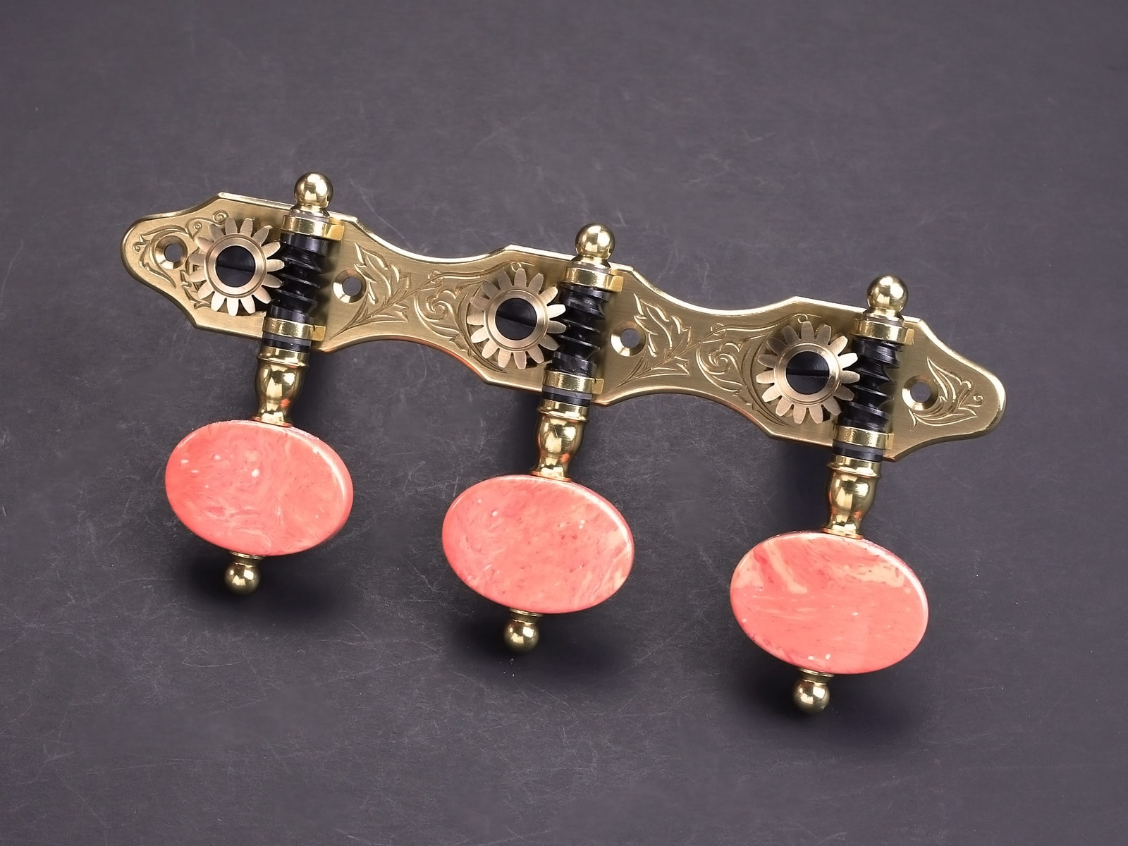 Rodgers Tuners L112 Brass Orange Marble